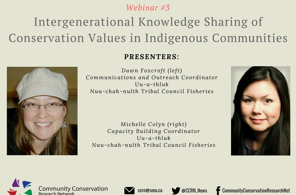 Intergenerational Knowledge Sharing of Conservation Values in Indigenous Communities